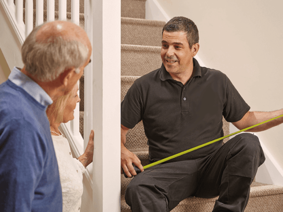 Stairlift service in Lynchburg, Va, including installation