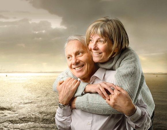 Happy couple considering stairlift rentals in Roanoke, VA