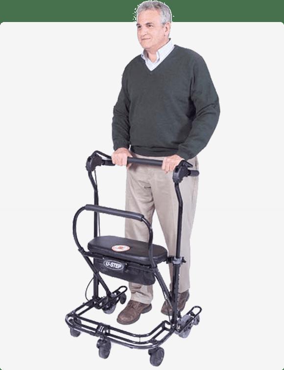 U-step walker being used by Lexington, VA man