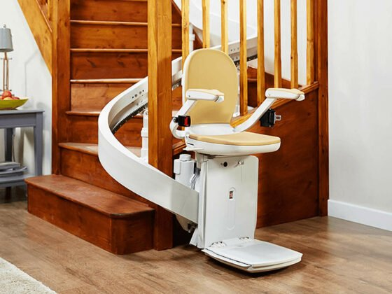 Curved stairlift in Roanoke, Blacksburg, Lexington, VA
